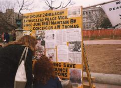 Anti-Nuclear Peace Vigil (1989) (aimeedars) Tags: aimeedars 1989 teen childhood vintage washington dc whitehouse peace activists antinuclear vigil protest teens teenagers scanned nostalgia washingtondc