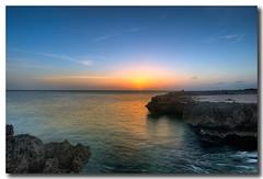 Aruba Sunset (James Duckworth) Tags: ocean blue sunset sky orange beach water coral rocks aruba soe d300 jimduckworth jamesduckworth jamesduckworthphotography