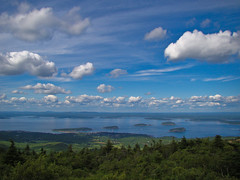 Another Bar Harbor - Frenchman's Bay from Cadillac on a Perfect Sky Day (SIngraham) Tags: travel me nature landscape maine cadillac acadia barharbor acadianationalpark lifeasiseeit isawyoufirst absolutelystunningscapes