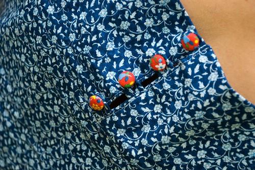 anna tunic button detail
