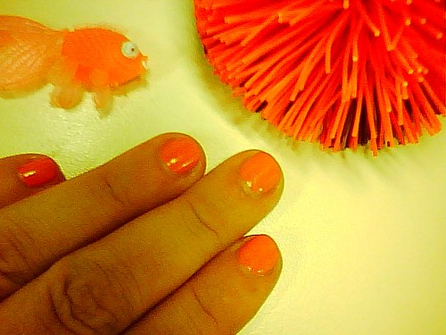 I accidentally got an orange manicure