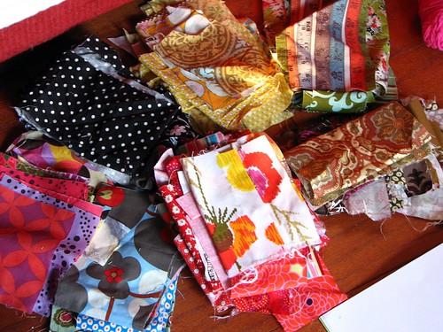 scrap piles - future quilt