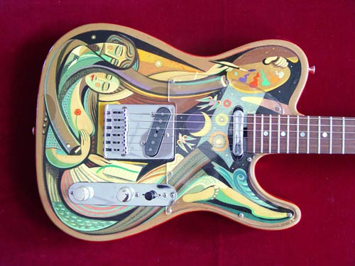 alcorn gallery guitar painting
