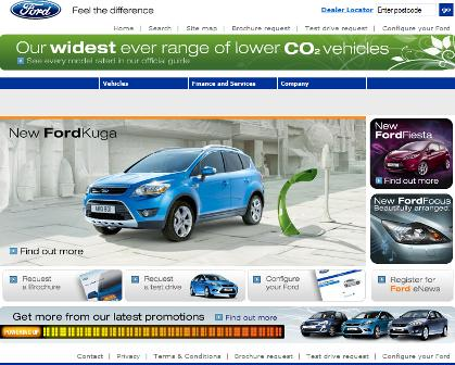 Ford UK homepage
