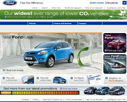 Ford UK homepage