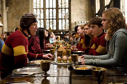 Harry Potter y el misterio del príncipe con Hermione y Ron
