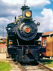 Puffy, Tarantula Train Steam Locomotive, Ft. Worth Stockyards (StevenM_61) Tags: railroad train texas unitedstates railway turntable rails locomotive fortworth steamlocomotive fortworthstockyards