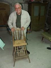 chaise haute de papy