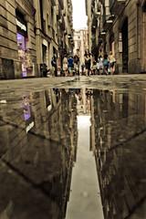 Por el barrio G'otico de Barcelona