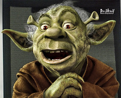 YODA-SHREK (The PIX-JOCKEY (visual artist)) Tags: portrait cinema celebrity art film photoshop movie star starwars shrek yoda contest fake manipulation humour hollywood winner vip photomontage chop caricature ritratto worth1000 ratzinger berlusconi guerrestellari fotomontaggi robertorizzato pixjockey