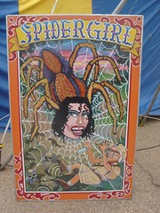 spidergirl (anthonyturducken) Tags: carnival sign festival hand memphis tennessee painted side delta fair freak handpainted signage fest sideshow carnie freakshow