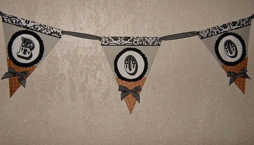 Boo Bunting Banner for Halloween