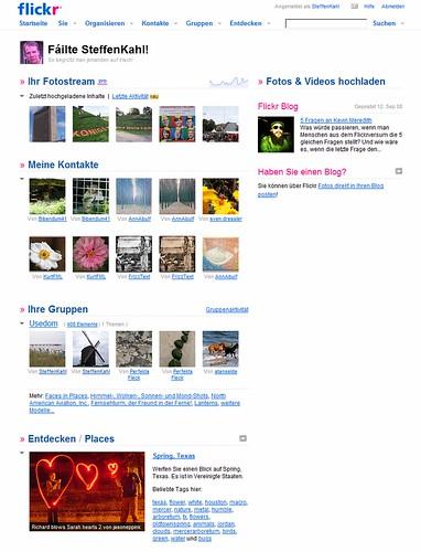 Vorpremiere der neuen Flickr-Homepage