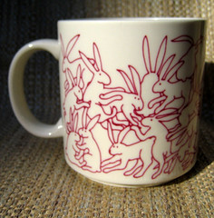 Bunnies doing what bunnies do best. (Kultur*) Tags: mug 1980s lapin animates taylorng rabbitskulturvintage