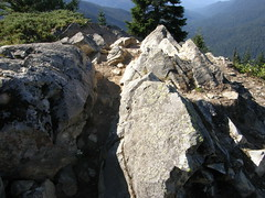 Views from view rock on way to Shriners peak summit.