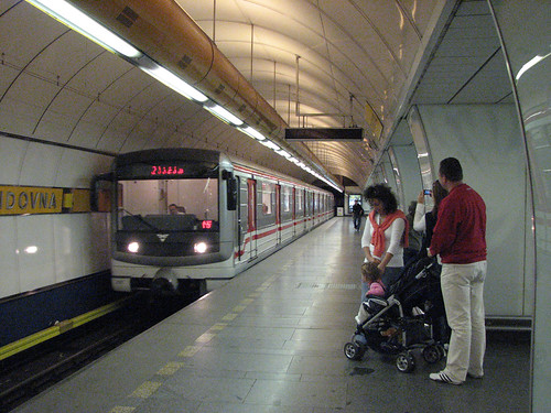 Prague Metro Invalidovna station