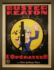 Buster Keaton LOprateur (The Cameraman) (cliff1066) Tags: art advertising washingtondc posters cameraman nationalportraitgallery busterkeaton portraitgallery jeanmercier loprateur