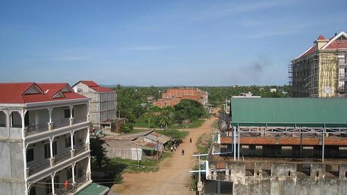 View toward Battambang's countryside