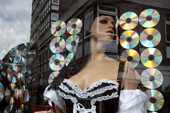 french maid soho (micheeky) Tags: reflection london window shop canon french costume kiss cd soho 45 cds maid michiru manekin x2 450d micheeky