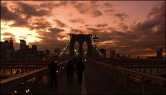 Inicio del puente de Brooklyn
