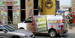 Graffiti Response - Ottawa 09 08 (Mikey G Ottawa) Tags: street ontario canada advertising mural graphic ottawa property advertisement commercial graffitti shops graffito commercialart mikeygottawa grafoff