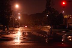 Red (ryan digital) Tags: rain truck redlight cbdparkinggarage