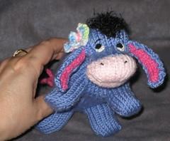 Eeyore Peep in My Hand (theknittycat) Tags: cute animal knitting hand handmade character knit handknit donkey gift pooh winniethepooh knitted peeps amigurumi eeyore inmyhand knittycat theknittycat
