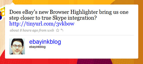 Does eBay's new Browser Highlighter bring us one step closer to true Skype integration?