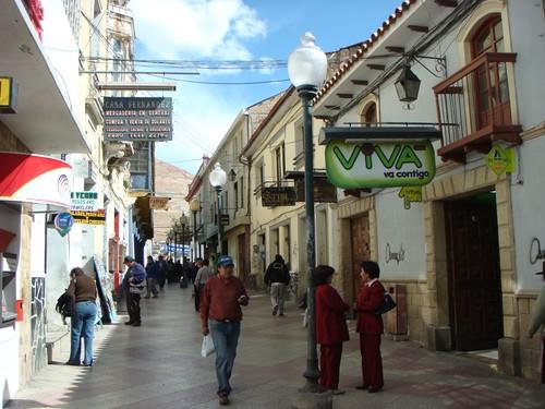 Pedestrian street in Potosi - Bolivia.