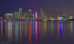miami welcomes you.. (iCamPix.Net) Tags: ocean usa building water rainbow nightshot explore bankofamerica fav favourite canonef2470mmf28lusm mostviewed watsonisland downtownmiami portofmiami supershot americanairlinesarena ultimateshot ysplix mostwatched cannoneos1dsmarkiii