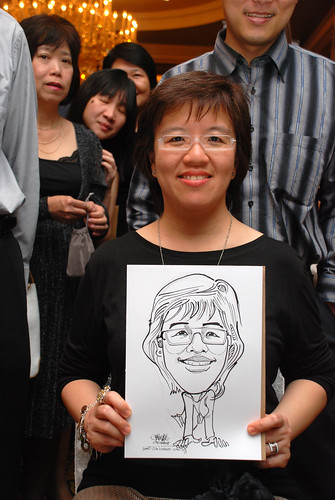 Caricature live sketching for Great Eastern Life D&D 2008 6