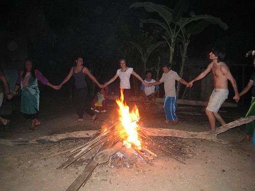 Campfire song and dance with some of the villagers