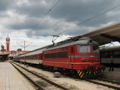 It's Coming (Krali Mirko) Tags: electric train railway bulgaria 111 locomotive 44 skoda varna bdz 44111