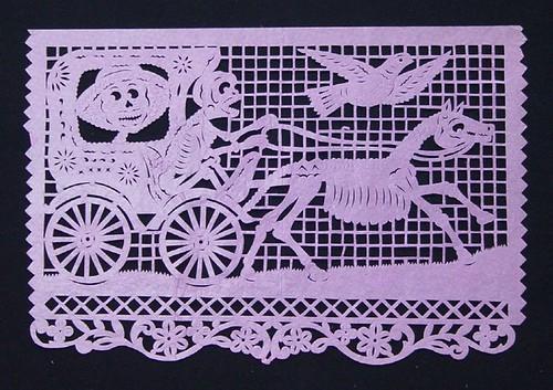 Horse-drawn Skeleton Carriage