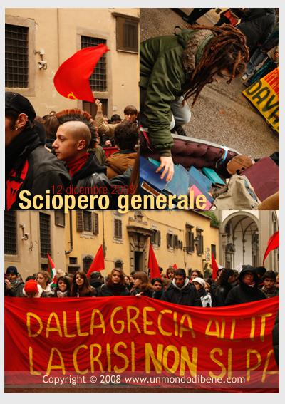 sciopero generale del 12/12/08 firenze
