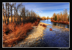 Along the Bitterroot (James Neeley) Tags: nature landscape montana searchthebest hamilton hdr bitterrootriver 5xp mywinners jamesneeley