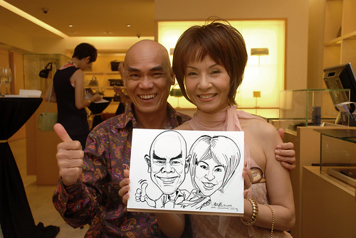Caricature live sketching for Bulgari Christmas Brunch - 11