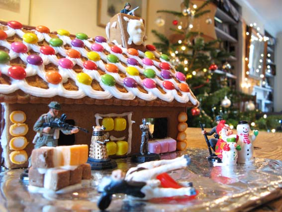 gingerbread war bunker