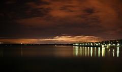 Still Night (lazydane) Tags: park longexposure lake reflection water 30 night marina landscape still shot sweden stockholm outdoor nighttime nightsky seconds waterscape nsby