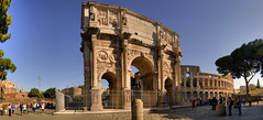 Arco di Constantino y Coliseo, Roma (I) (Panoramyx) Tags: italien italy panorama rome roma italia arch coliseo panoramica rom arco hdr italie colisseum lazio italië colosseo constantino itàlia masterofthelight