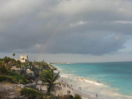 Rainbow over Tulum