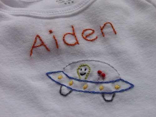 Aiden's space onesie
