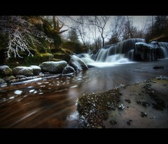 MISTY ICED WATERFALL - BELOW NEUADD RESERVOIR (Wiffsmiff23) Tags: upperneuaddreservoir icedwaterfall breconbeacons longexposure freexe froze wellies wiffsmiff23 velbon misty fog naturesfinest explorewinnersoftheworld
