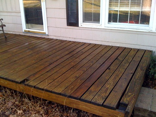 deck after power wash