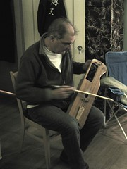 Ellen's dad plays a traditional Finnish instrument he made himself