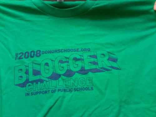 Blogger Challenge shirt