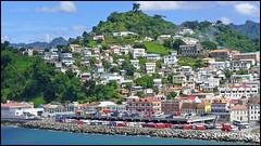 Grenada (K. Sawyer Photography) Tags: ocean houses mountains buildings hills grenada caribbean busses