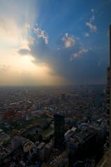 Tokyo - 44 stories up & looking West (James KEZMAN Photo) Tags: west japan tokyo nikon shinjuku august nikkor 2008 japon d3 afs aot tokio parkhyatttokyo 1735mm 17mm ouest 44thfloor