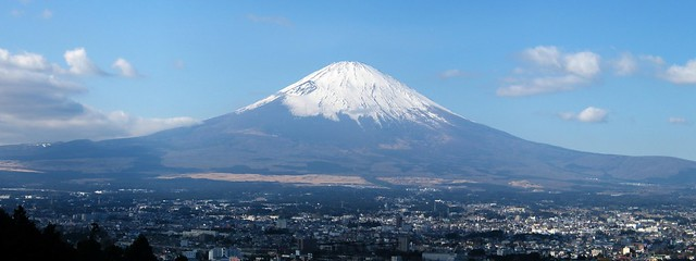 Mt. Fuji is a short train ride from Tokyo.
