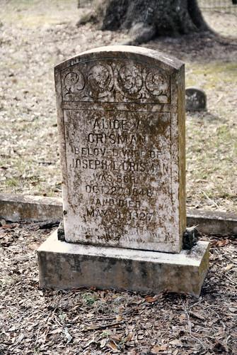 Alice Crisman, 1848-1927.